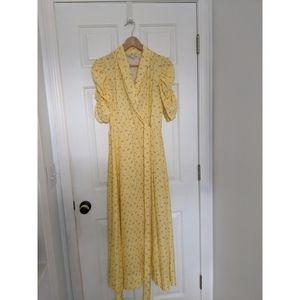 Jill Stuart Puff Sleeve Wrap Dress